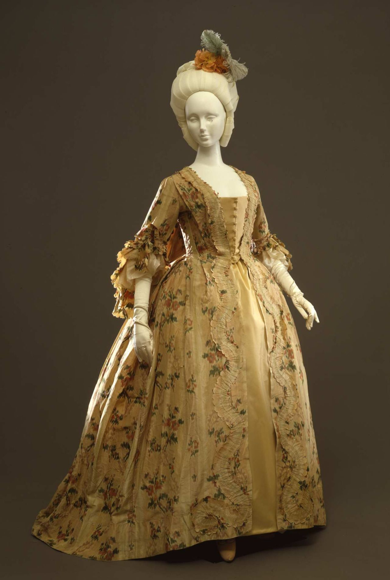 18th century wedding dress  Robe à la française ca   Period Dress  Pinterest  th