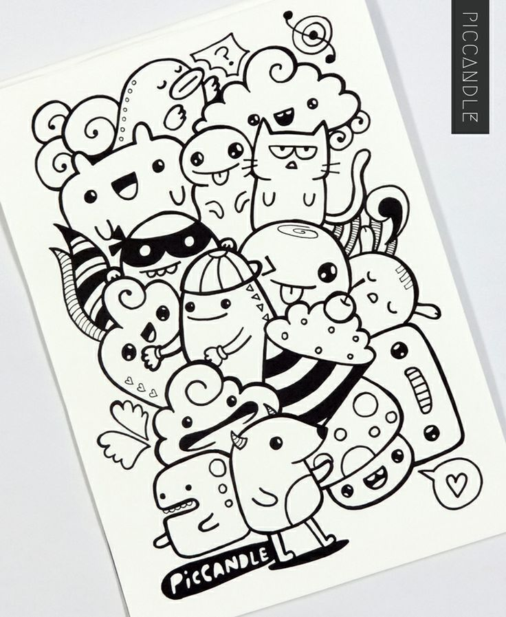 doodle art characters - Buscar con Google … | Pinteres…