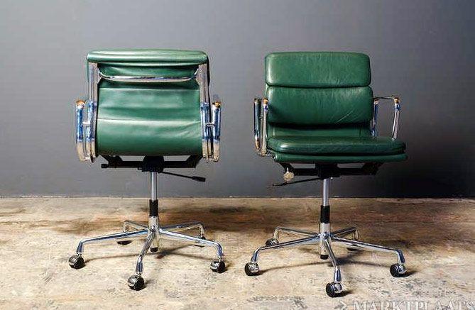 Leren Ikea Bureaustoel.Leren Ea217 Softa Pad Eames Vitra Izgs Bureaustoel Chair Home