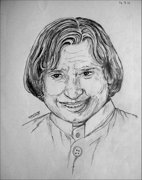 Dr APJ Abdul Kalam | Pencil Drawing | Pinterest | Abdul Kalam Sketches And Paintings