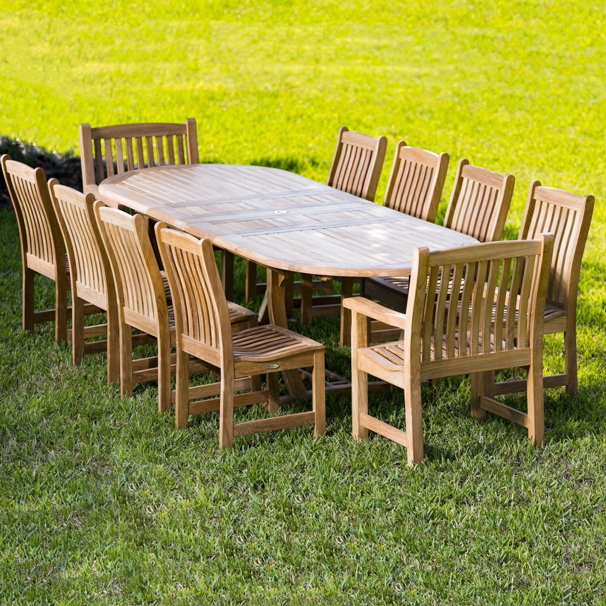 Oval Dining Table Set for 10 | Oval dining tables, Teak wood and Dining