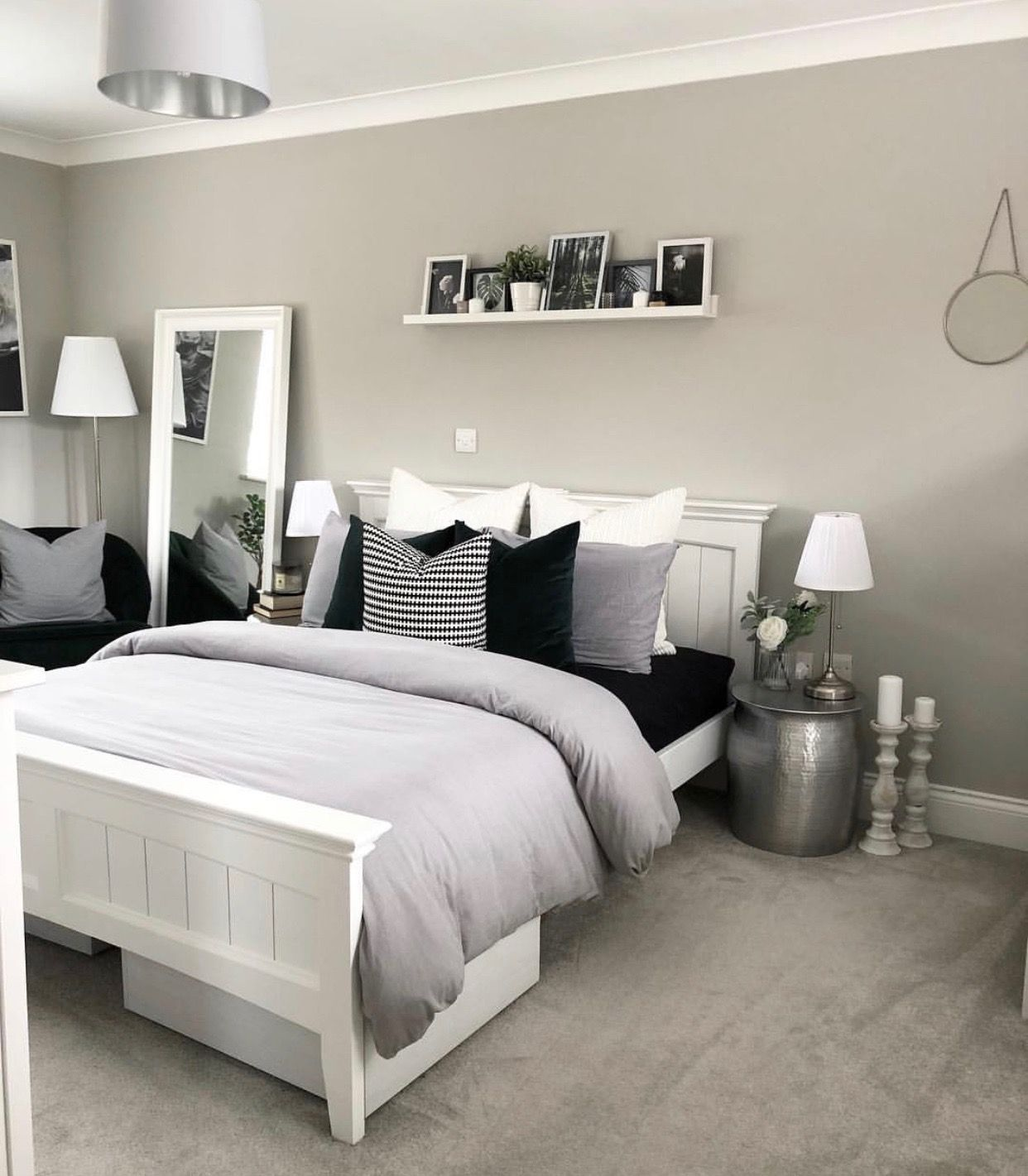 Pin by Briana on bedroom  White bedroom decor, Bedroom