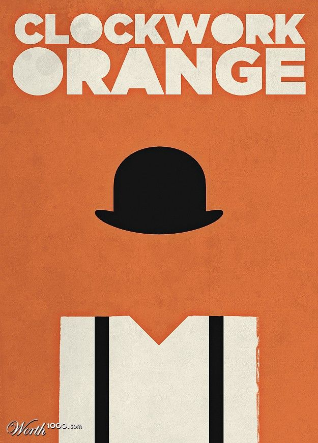 A Clockwork Orange - minimalist poster | Minimalist ... A Clockwork Orange Minimalist Poster