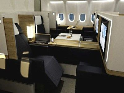 Swiss Air First Class On The A340 Airplane Interior Cabin