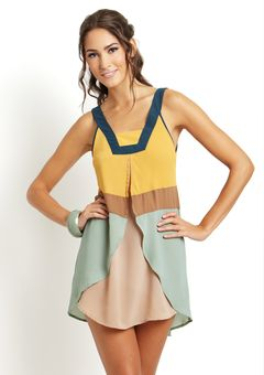 color block boho dress