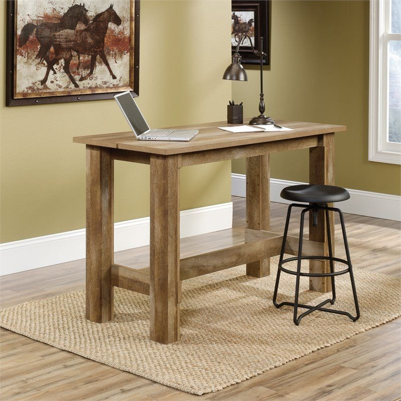 Counter height dining table in craftsman oak counter