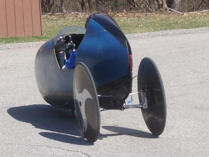 John morcglios tilting velomobile prototype 1