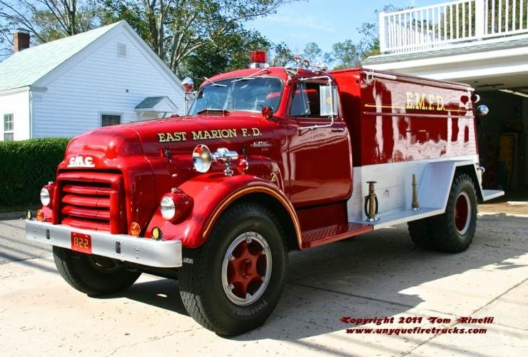East Marion Ny Fd Tanker 8 2 2 Retired 1952 Gmc 1 500 Gal