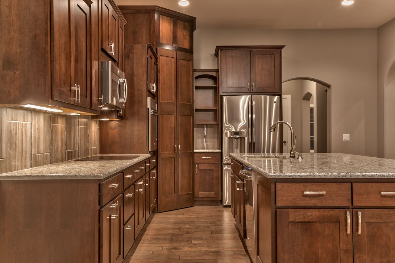 A view of this sleek and stylish kitchen bluestonehomes