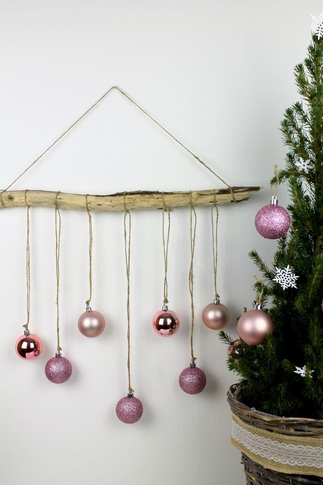 Diy Ausgefallene Weihnachtliche Wanddekoration Aus Treibholz Mit