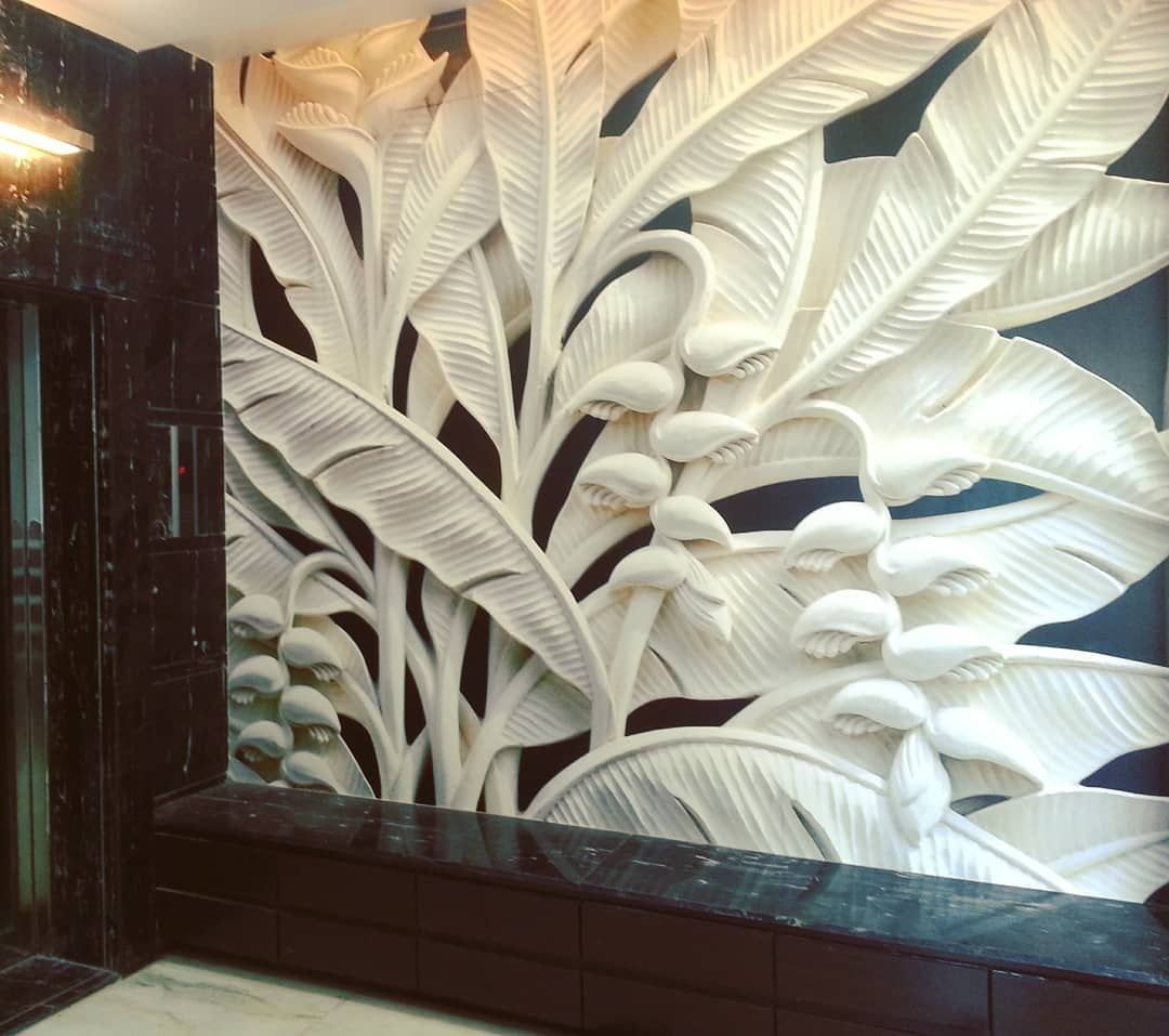 Entrance Foyer Of A 4 Bedded Penthouse Project. Lift Wall