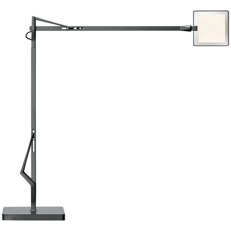 Flos Kelvin Edge Led Table Lamp In Titanium By Antonio Citterio Table Lamp Led Aluminum Paint
