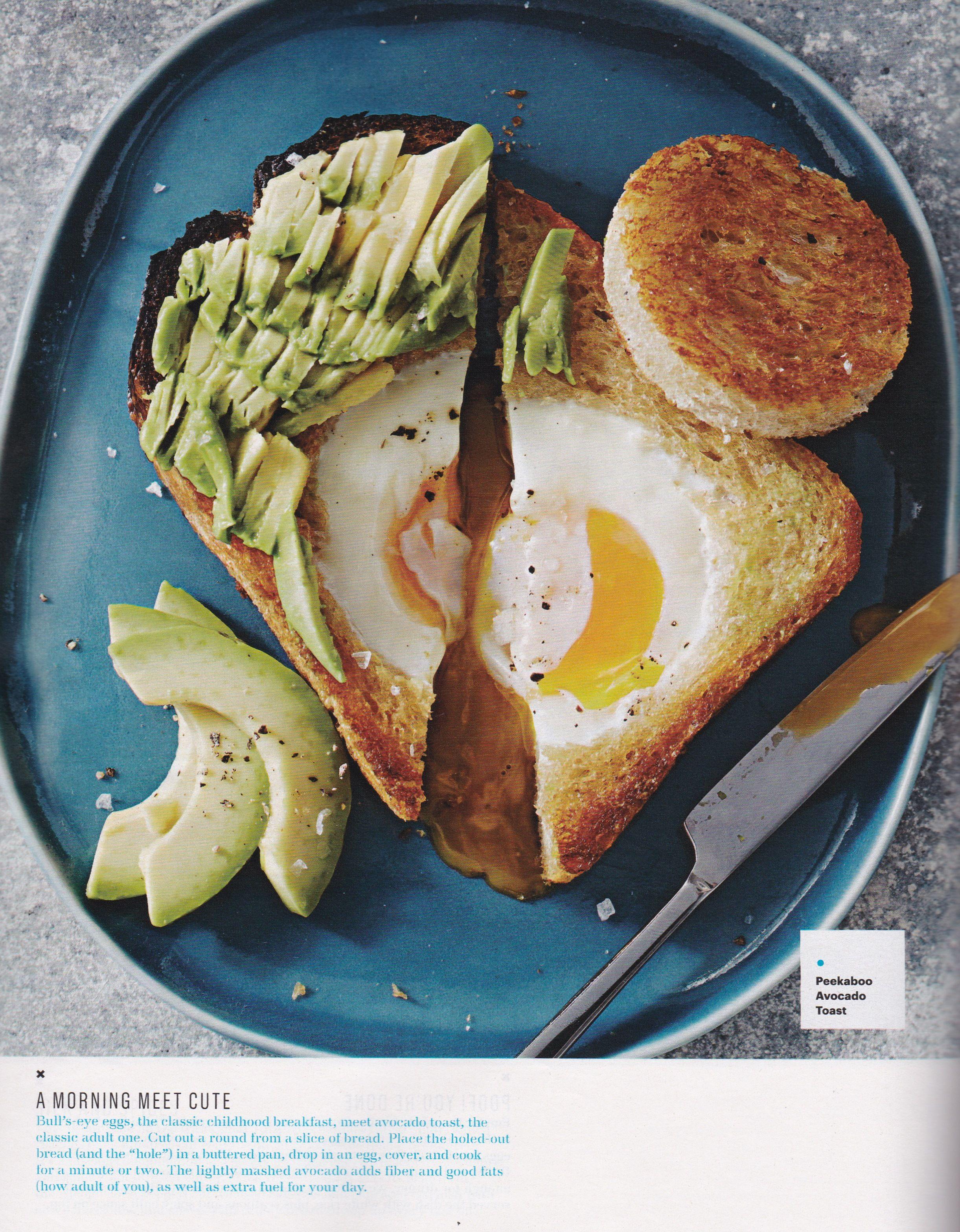 Peekaboo Avocado Toast photo recipe Martha Stewart
