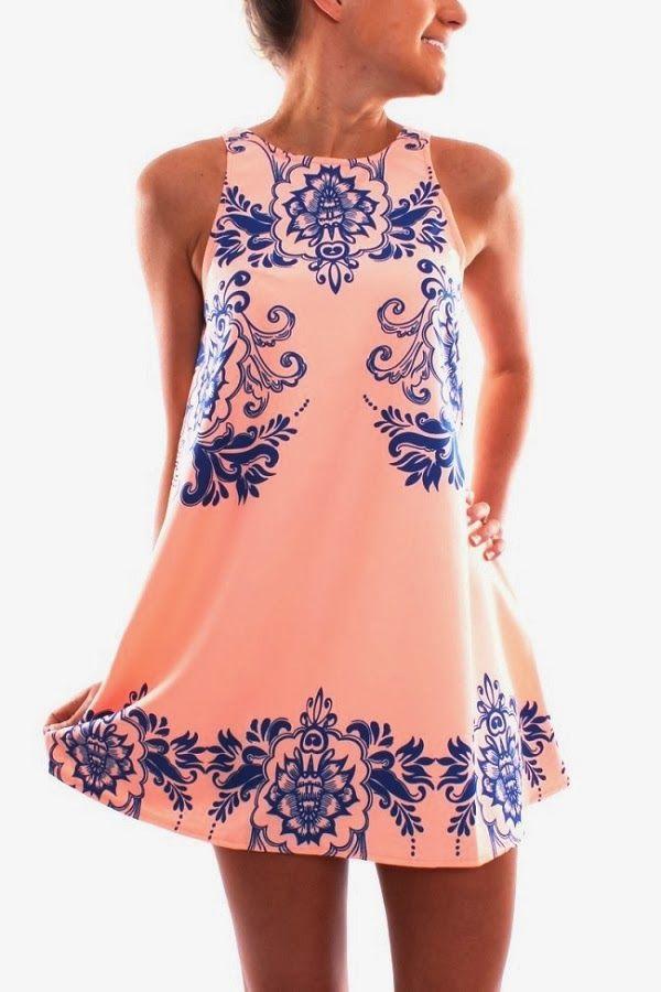 Jean Jail Sleeves Printed Dress | Fashionista Tribe