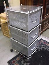 Nice 3 Drawer File Cabinet MESH 19820 STUDIO RTA Office Home Industrial Rolling  Cart