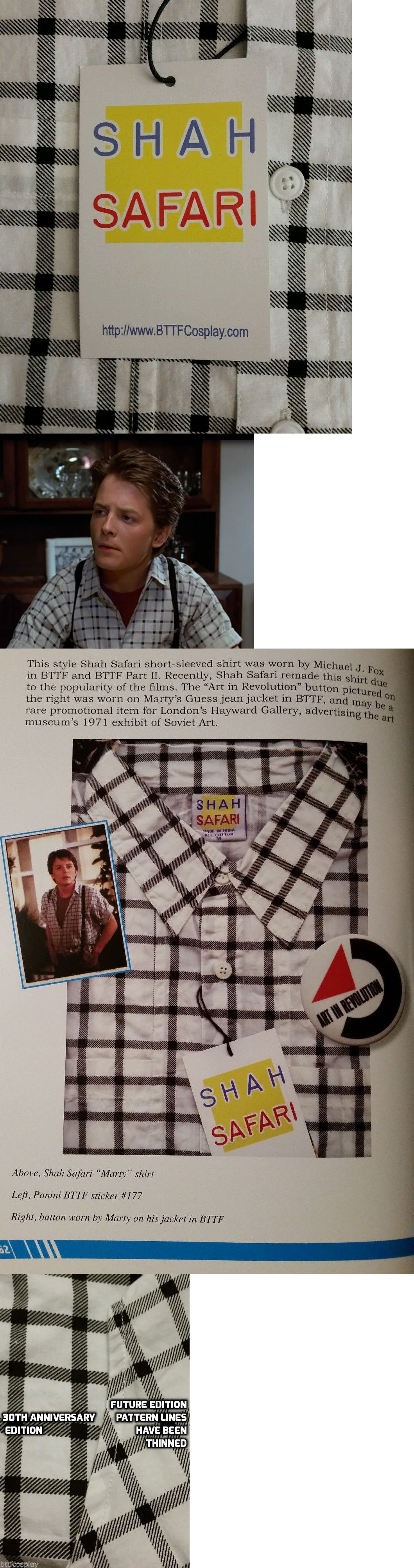 Official Shah Safari Marty McFly Back to the Future button up shirt