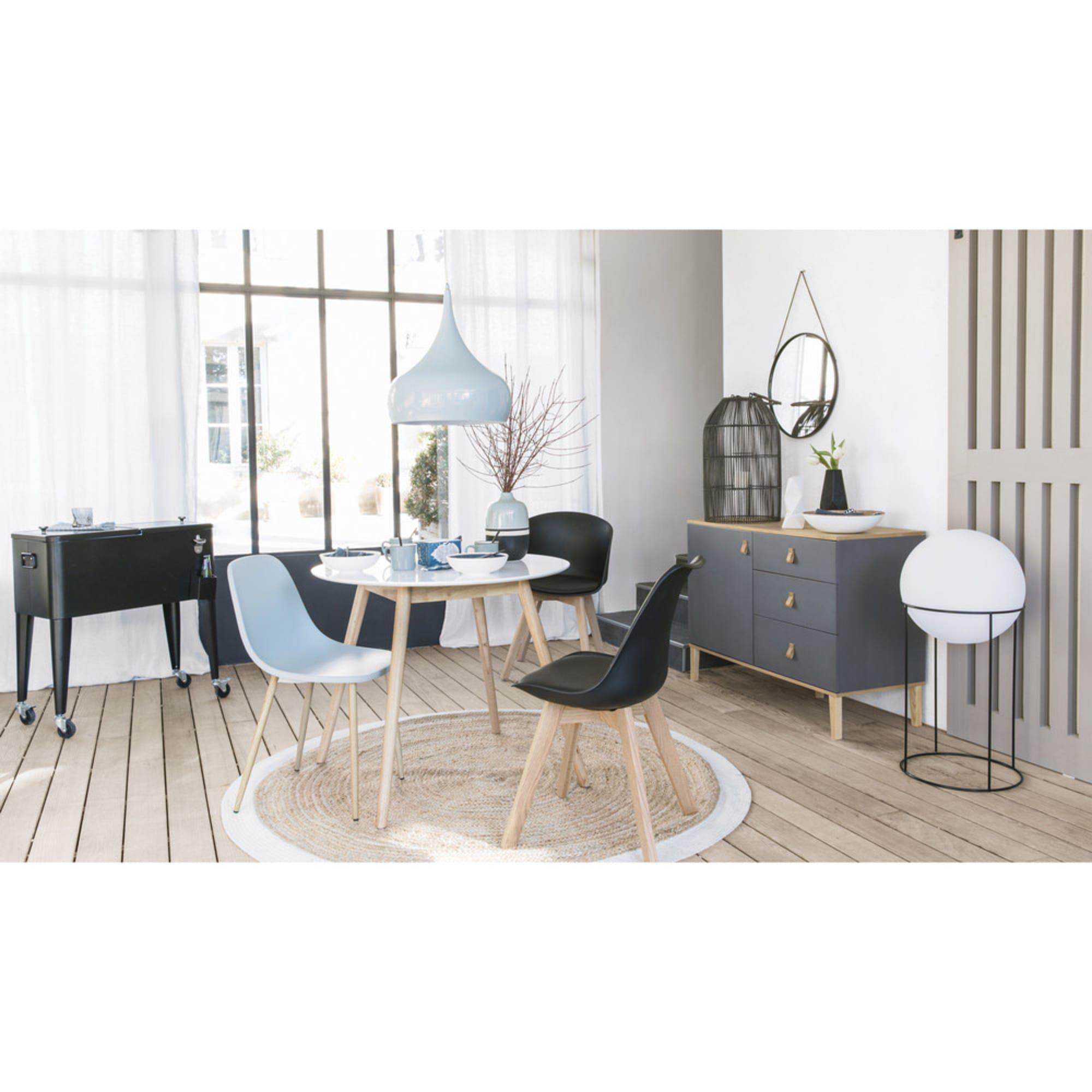 Contemporary White Chair Fibule Maisons Du Monde Table A Manger Ronde Meuble Maison Du Monde Table A Manger Ronde En Bois