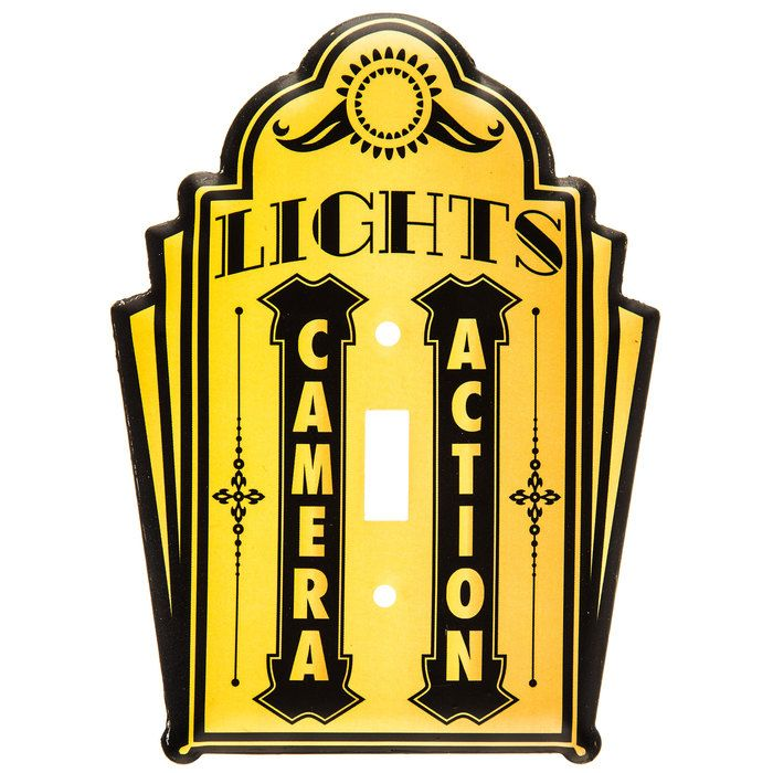 Lights, Camera, Action Movie Cinema Single Light Switch Plate⎜Open ...