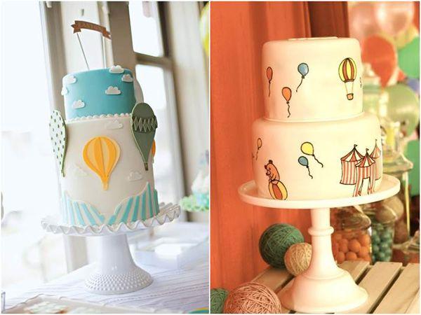 Como tenho reparado no sucesso que o tema balões tem feito para festas infantis e chá de bebê, resolvi fazer uma busca com referências e ideias para vocês se arriscarem ou apresentarem para as suas decoradoras! Mobiles que podem estar em cima ou atrás da mesa do bolo e balões presos na parede na área …