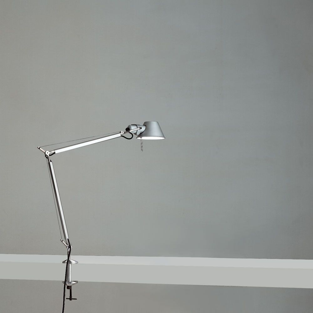 Tolomeo Mini Desk Lamp With Clamp By Artemide Tol0055 Desk Lamp Lamp Classic Table Lamp