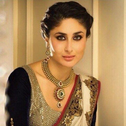 Kareena Kapoor With Tidy Hair Bun For Saree Kareena Kapoor Hairstyles Bollywood Hairstyles Kareena Kapoor