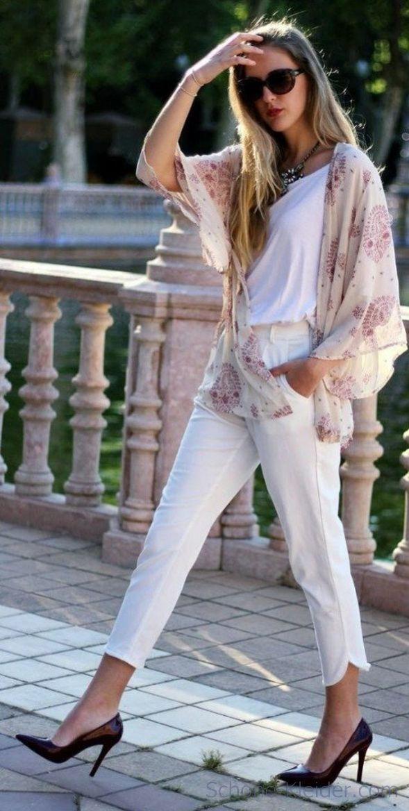Weiße Jeans Outfit Ideen für den perfekten Sommerjeans