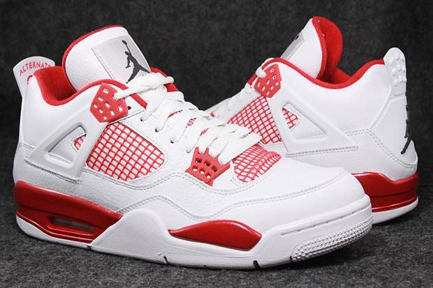 air jordan 4 retro red and white