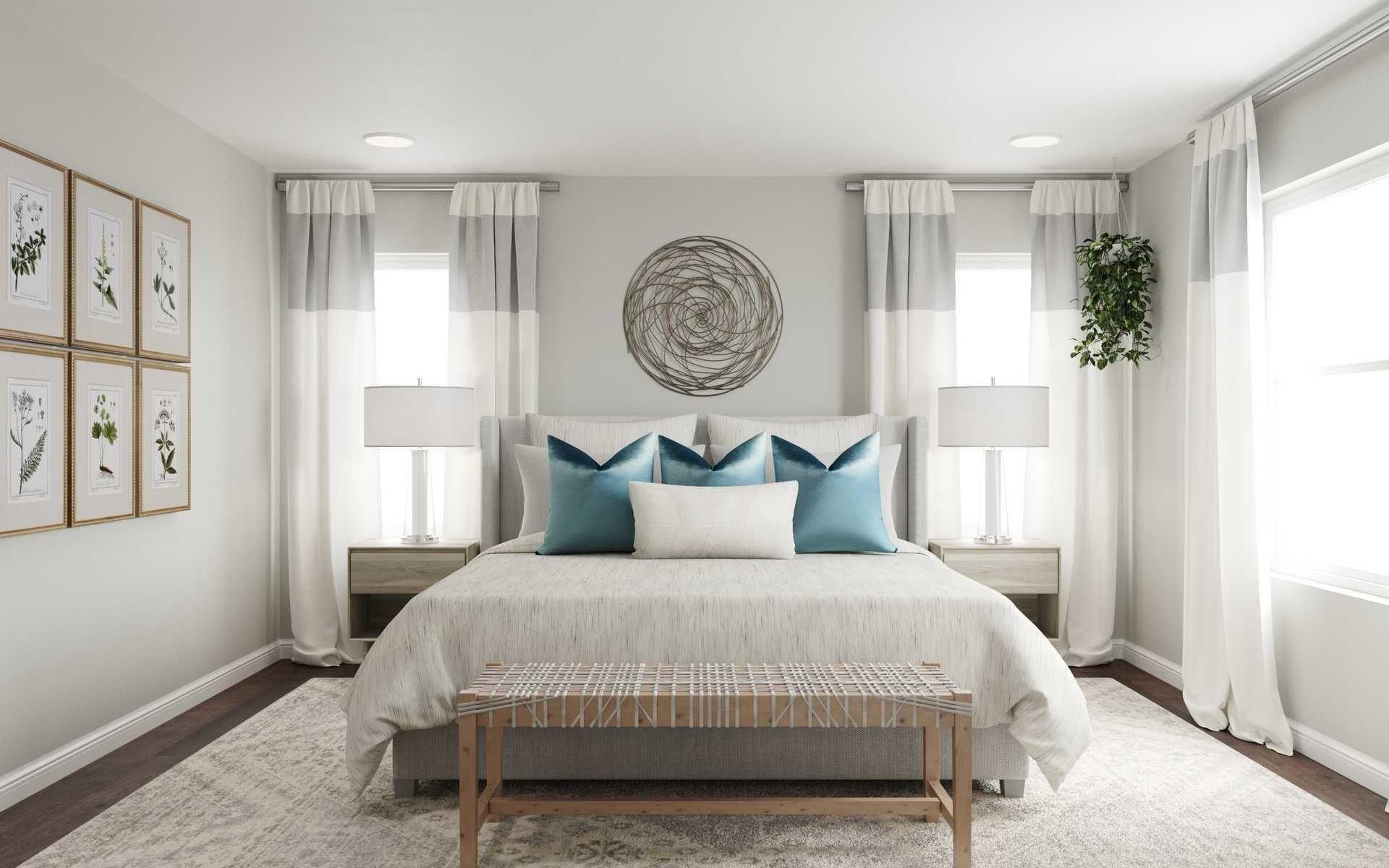 Contemporary Coastal Bedroom Design By Havenly Interior Designer Fendy Interior Design Bedroom Design Coastal Room