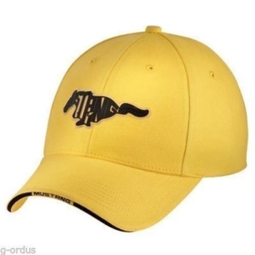 NEW ADJUSTABLE YELLOW FORD MUSTANG COBRA SVT GT PONY HAT CAP! PATCH SAYS  MUSTANG ca27502e2585
