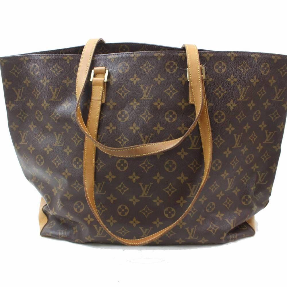 7a193439b98a Authentic Louis Vuitton Tote Bag Cabas Alto M51152 Browns Monogram 315195   fashion  clothing