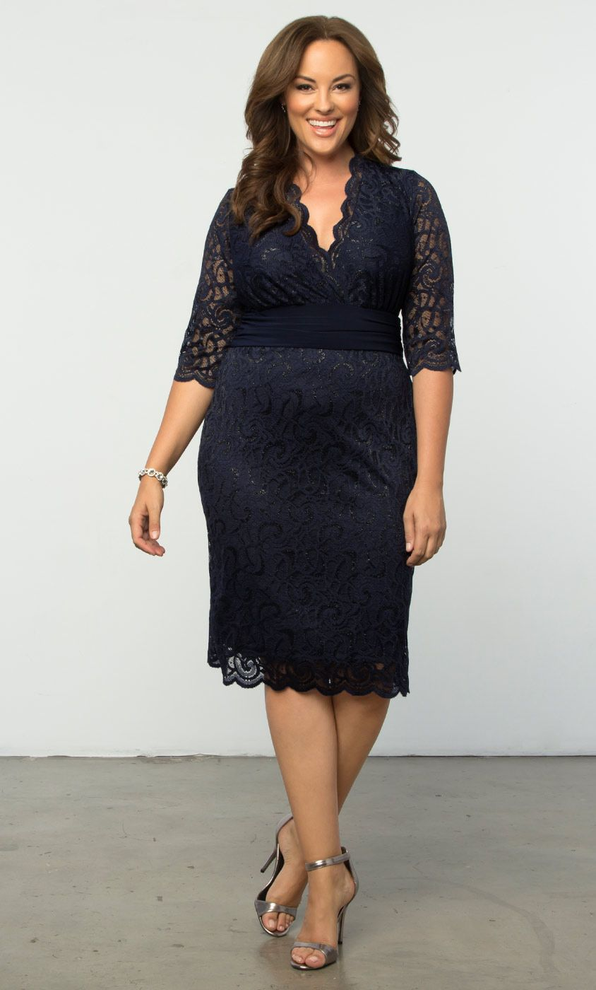c27865770e8 Check out the deal on Lumiere Lace Dress at Kiyonna Clothing