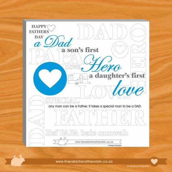 fathers day art #gift #art #father #love #poem @rabbitandrobin