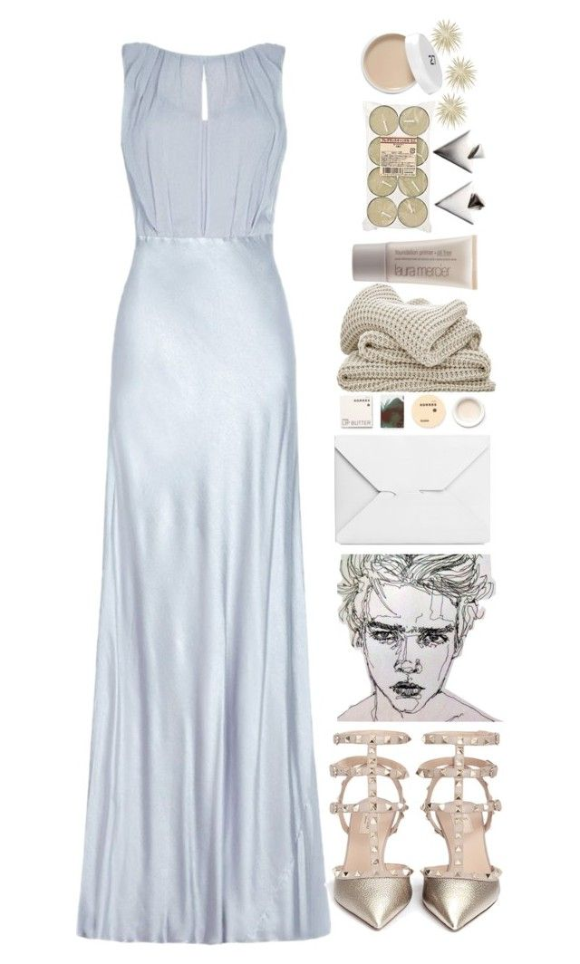 """""""let the rain fall."""" by natallama-o ❤ liked on Polyvore featuring Ghost, Valentino, J.W. Anderson, Korres, Laura Mercier and Muji"""