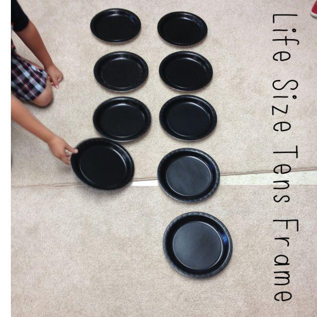 Make Ten Frames from Paper Plates   Math   Pinterest