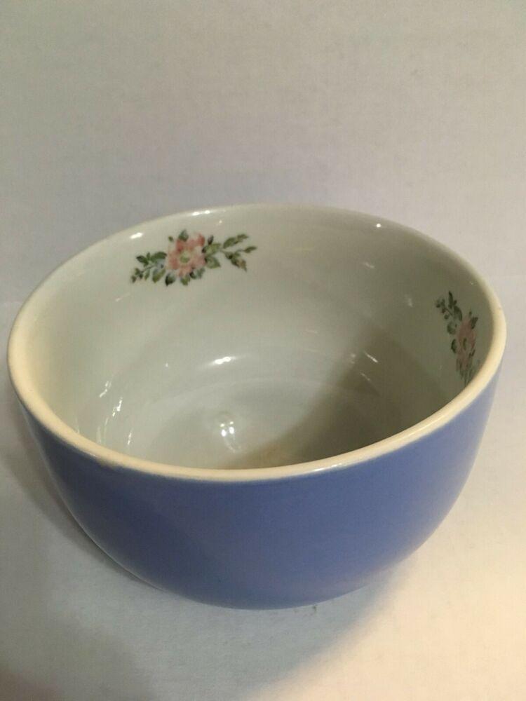 Hall S Superior Quality Kitchenware Blue Mixing Bowl Rose Parade 1259 Halls Rose Parade Kitchenware Bowl