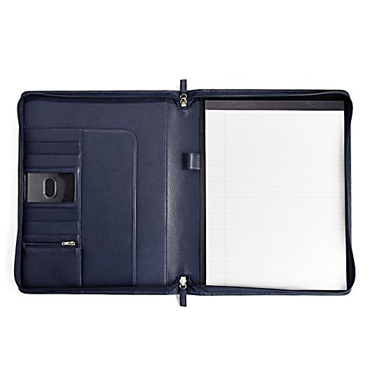 Classic Zippered Padfolio