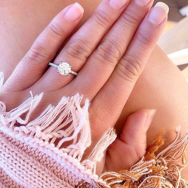 Petite Shared Prong Classic Diamond Engagement Ring 18k White Gold Setting Price Engagement Designer Engagement Rings Rings