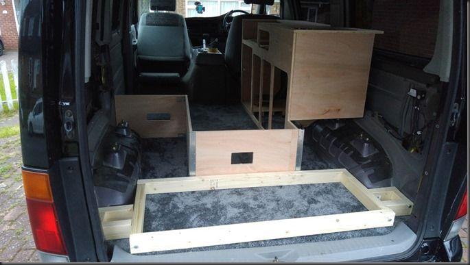 Building The Seatbench Around The Prototype Campervan Conversion Diy Campervan Campervan Conversions Camper Van Conversion Diy