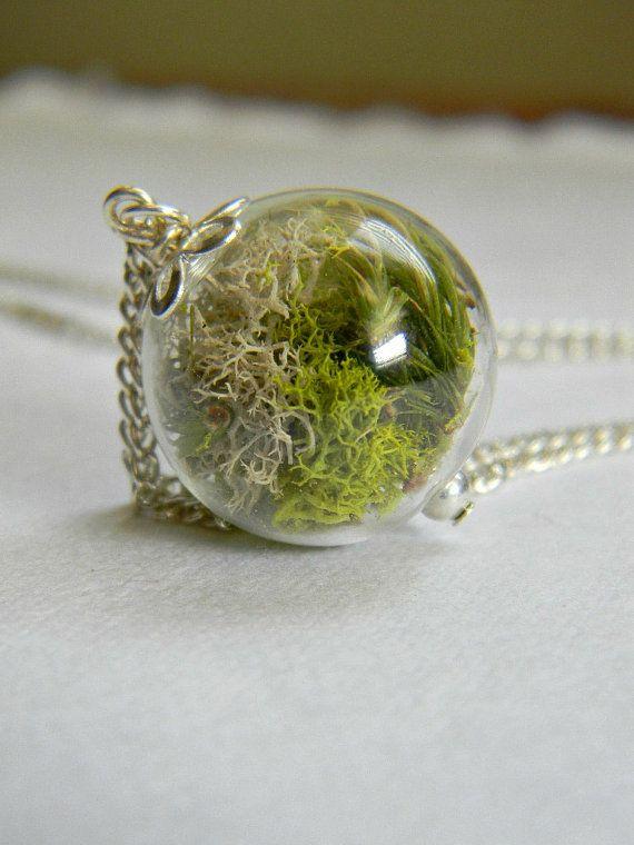 Terra chiazzata... Vetro Orb tenere Sake, Lime verde muschio, semplicità, natura, giardini di Firefly on Etsy, 18,55€