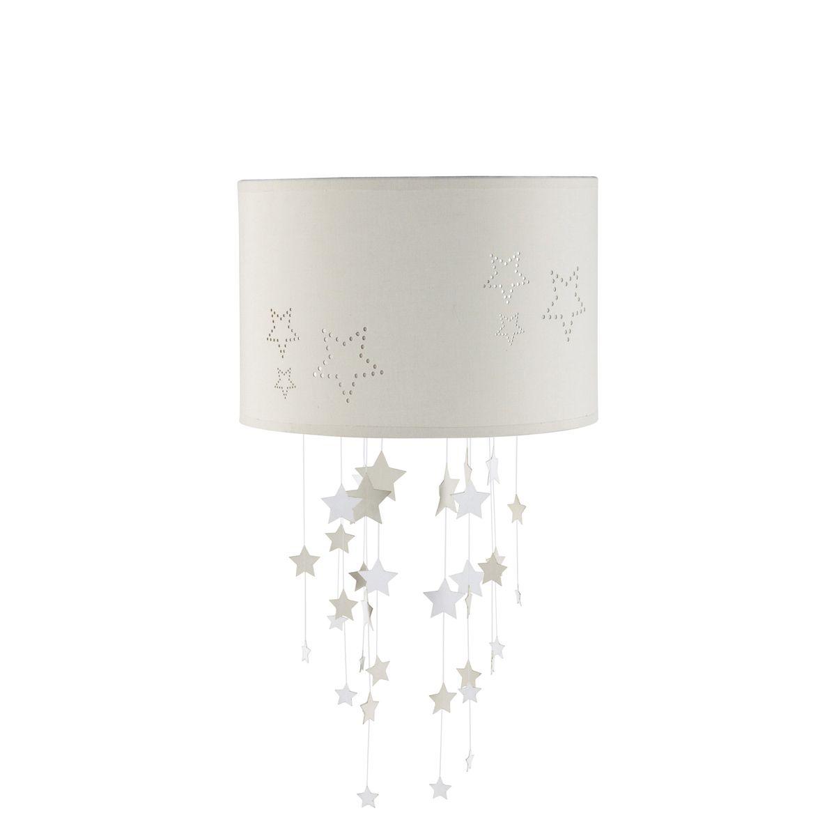 Hangeleuchte Aus Stoff Beige Ohne Elektrischen Anschluss D 30 Cm Etoiles Lampe Babyzimmer Hangeleuchte Lampe Kinderzimmer Madchen