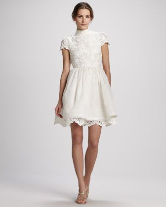 Alice   Olivia Fyona Lace-Bodice Party Dress - Neiman Marcus | My ...