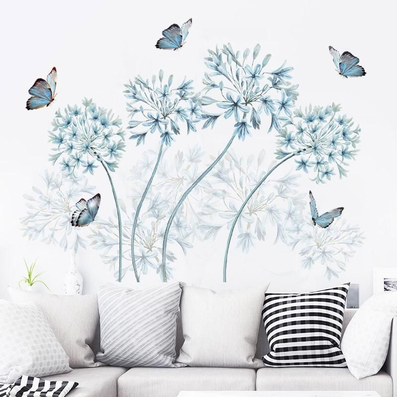 Flowers Wall Stickers In 2020 Flower Wall Decals Wall Murals