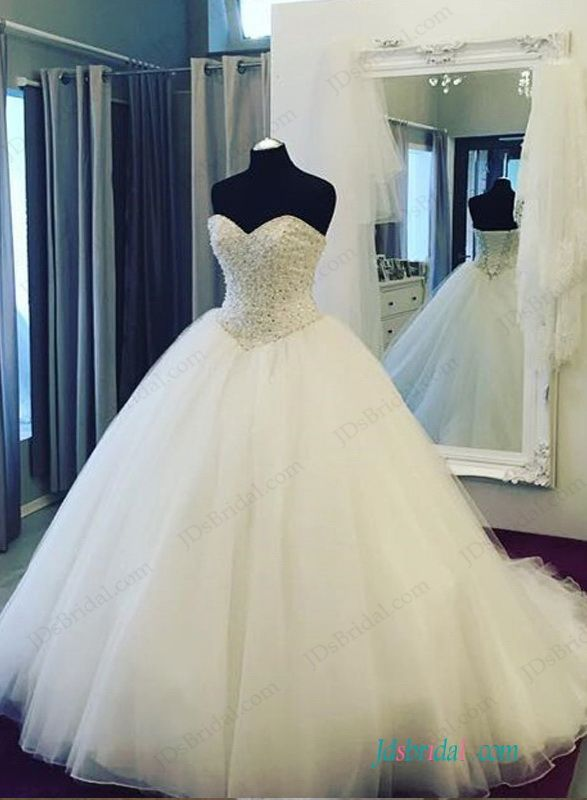 Stunning Beading Sweetheart Bodice Princess Ball Gown Wedding
