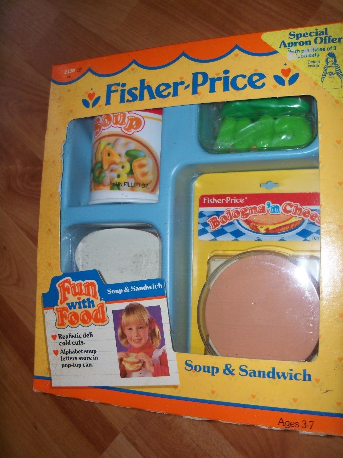 1987 Fisher Price Fun with Food Soup & Sandwich NEW old stock #2130 ...