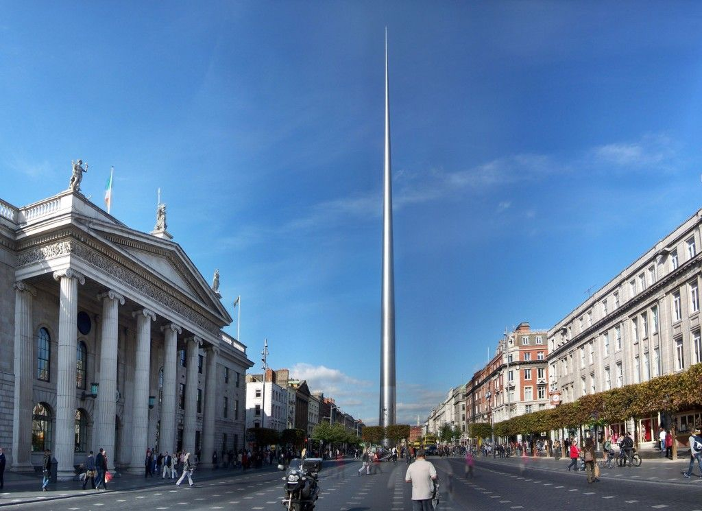 The Spire of Dublin, officially titled the Monument of Light is a large,  stainless steel, pin-like monument that stands at over 120 metr… | Irlanda,  Dublin, Geziler