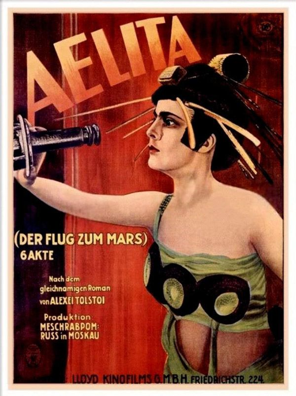 """AKA """"Aelita: Queen of Mars,"""" (1924) this pioneering film mixes romance and revolution as an Earth man and a Martian woman join forces."""