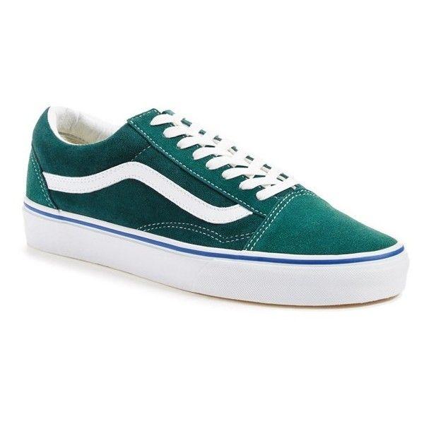 VANS 'Old Skool' Velvet Sneaker ❤ liked