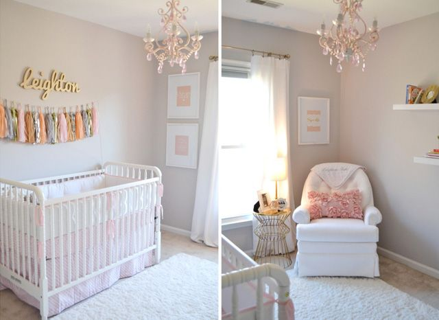 Project Nursery - Feminine Coral and Gold Nursery - Project Nursery