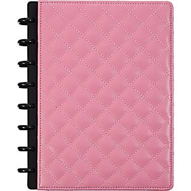 M by Staples™ Arc Customizable Patent Leather Notebook System, Pink