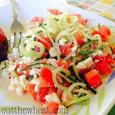 Simple Summer Spiraled Cucumber Salad